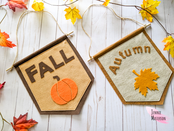 Felt fall sign by Jennie Masterson