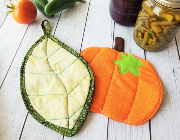 Fall potholder sewing  pattern by Sew Simple Home