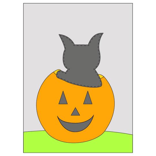 DIY Halloween Black Cat Banner - Step 5