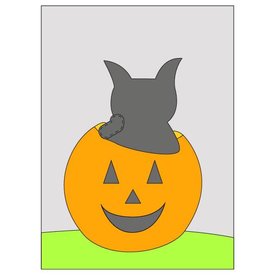 DIY Halloween Black Cat Banner - Step 6