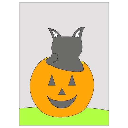 DIY Halloween Black Cat Banner - Step 7