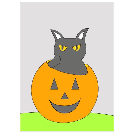 DIY Halloween Black Cat Banner - Step 9