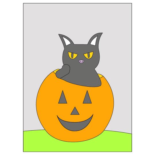 DIY Halloween Black Cat Banner - Step 10