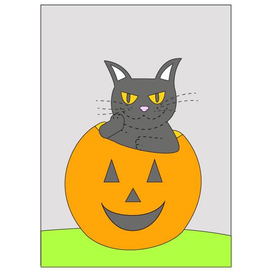 DIY Halloween Black Cat Banner - Step 11