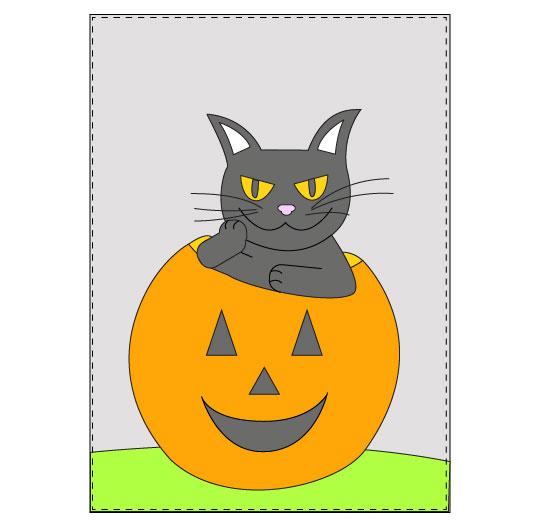 DIY Halloween Black Cat Banner - Step 13