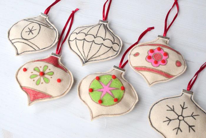 Keepsake Christmas Ornaments Kids Can Make - Free Sewing Pattern by Orange Bettie