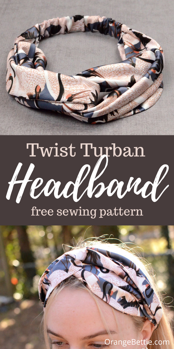 Twist Turban Headband Free Sewing Pattern
