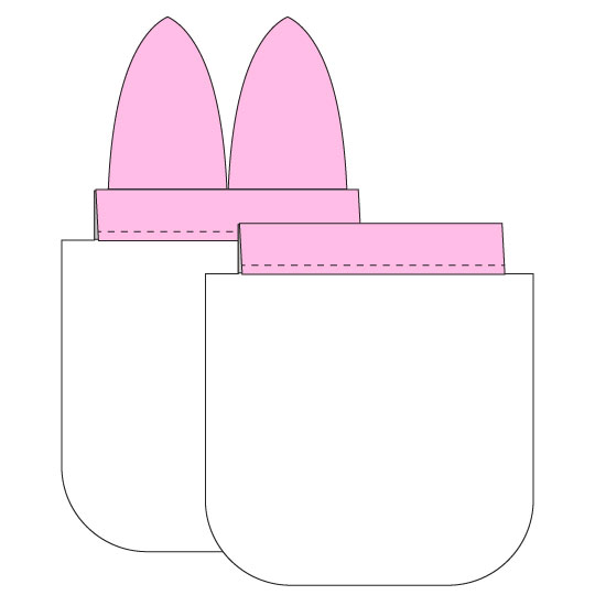 Sudsy Bunny DIY Soap Pouch - step 10