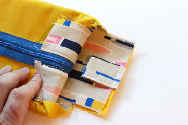 Boxy Pencil Pouch, step 12
