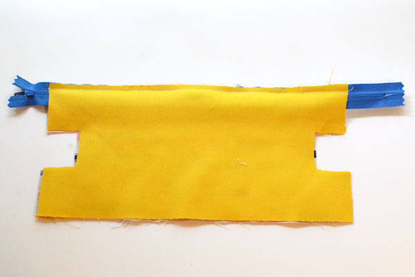 Boxy Pencil Pouch, step 4