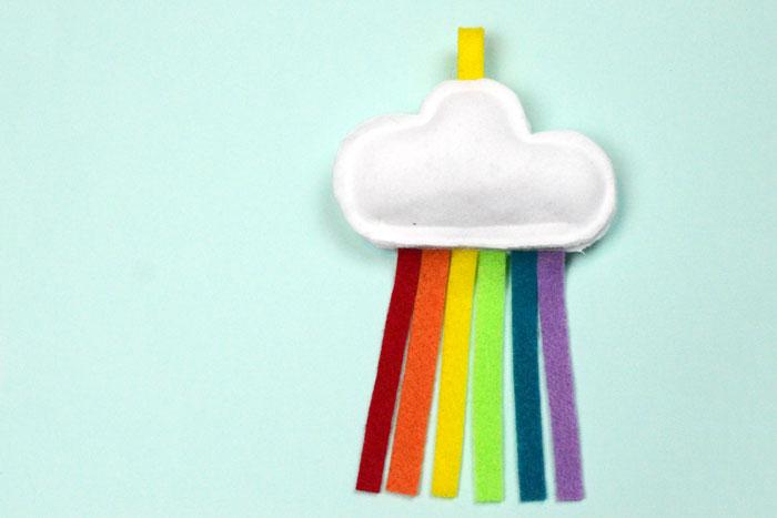 Rainbow Cloud DIY Cat Toy – Free Sewing Pattern