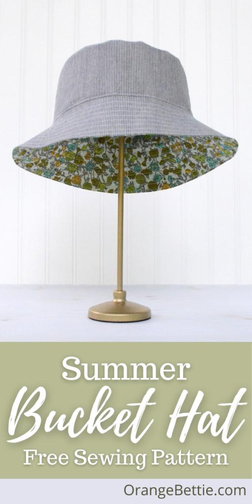 Summer Bucket Hat Tutorial With Free Sewing Pattern by Orange Bettie