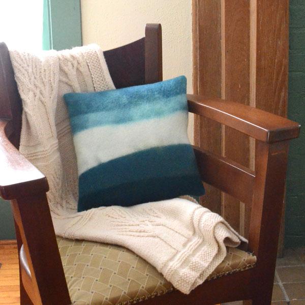 DIY Dip Dye Ombre Wool Pillow Sewing Tutorial