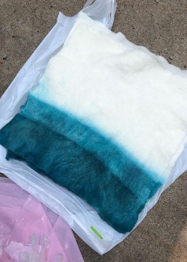 DIY Dip Dye Ombre Wool Pillow Sewing Tutorial - Step 5