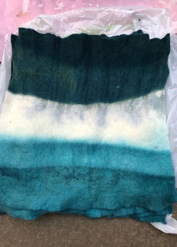 DIY Dip Dye Ombre Wool Pillow Sewing Tutorial - Step 6