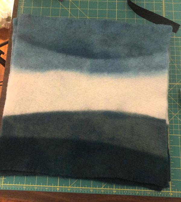 DIY Dip Dye Ombre Wool Pillow Sewing Tutorial - Step 8